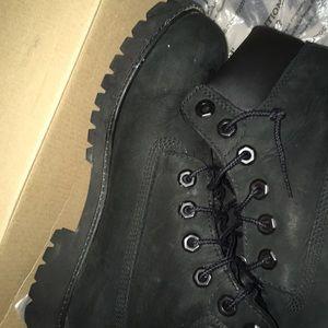 Black Timberlands boots